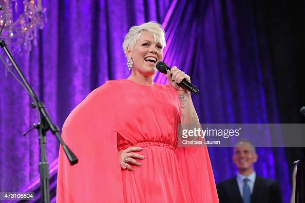Honoree Pnk performs onstage during the 63rd Annual BMI Pop Awards held at the Regent Beverly Wilshire Hotel on May 12 2015 in Beverly Hills...