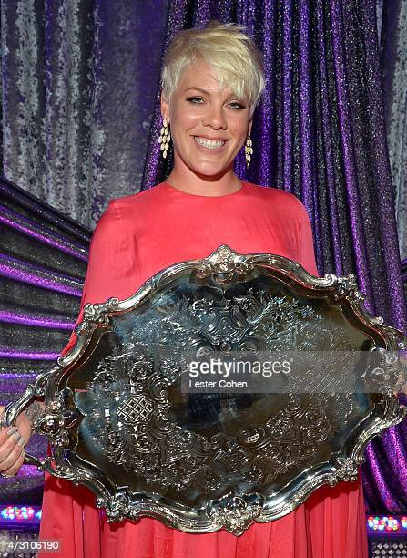 Honoree Pnk poses with the BMI President's Award during the 63rd Annual BMI Pop Awards held at the Regent Beverly Wilshire Hotel on May 12 2015 in...