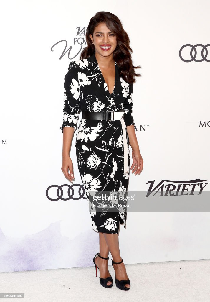 Honoree Priyanka Chopra attends the Variety's Power Of Women at the Beverly Wilshire Four Seasons Hotel on October 13, 2017 in Beverly Hills, California.