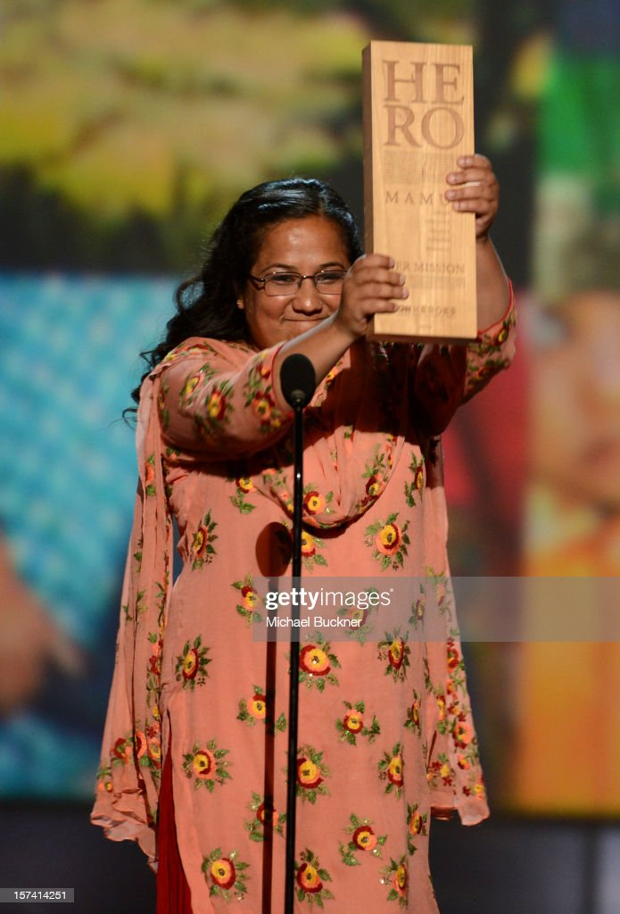 Honoree Pushpa Basnet of the Early Childhood Development Center speaks onstage during the CNN Heroes: An All Star Tribute at The Shrine Auditorium on December 2, 2012 in Los Angeles, California. 23046_006_MB_1437.JPG