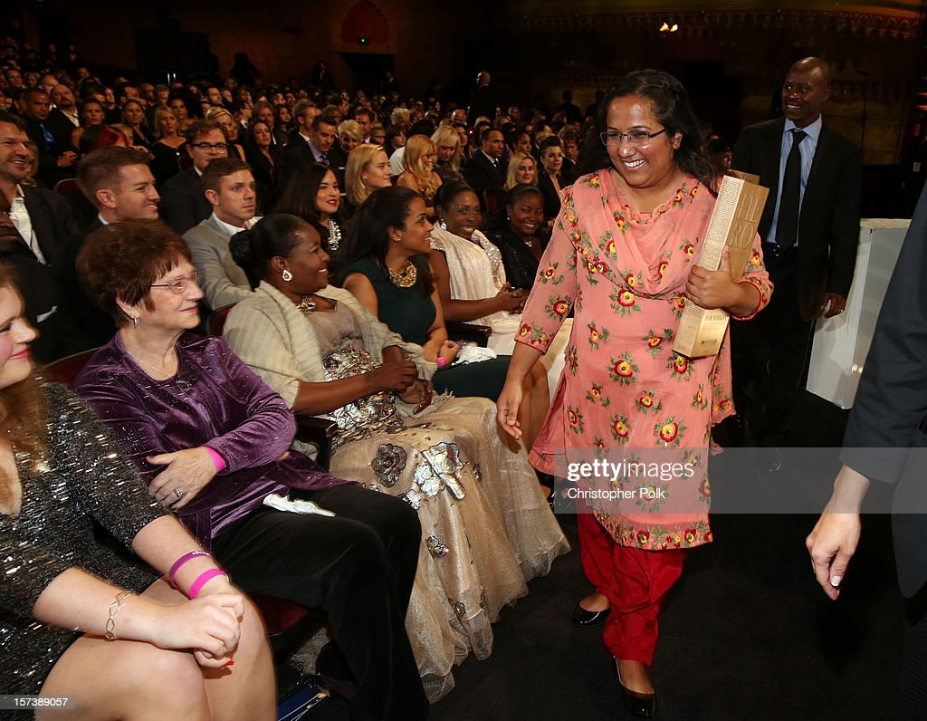 Honoree Pushpa Basnet the Early Childhood Development Center attends the CNN Heroes: An All Star Tribute at The Shrine Auditorium on December 2, 2012 in Los Angeles, California. 23046_005_CP_0286.JPG