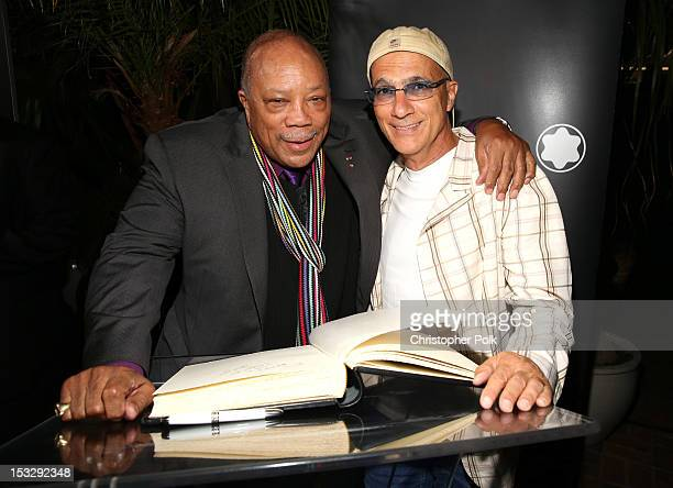 Honoree Quincy Jones and music producer Jimmy Iovine attend Montblanc Honors Quincy Jones at the Montblanc de la Culture Arts Patronage Award...
