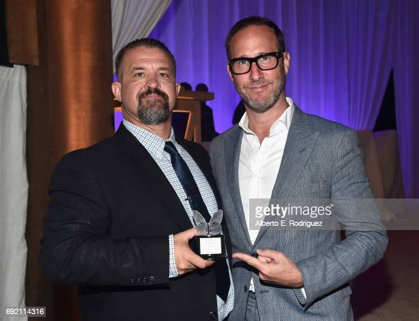 Honoree Raymond Davis and Chrysalis Butterfly Ball Cochair Richard Weitz at the 16th Annual Chrysalis Butterfly Ball on June 3 2017 in Los Angeles...