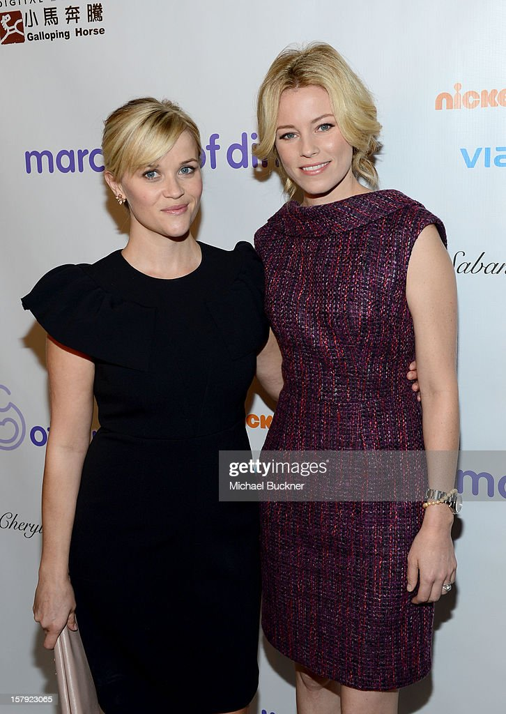 Honoree Reese Witherspoon and actress Elizabeth Banks attend the 7th Annual March of Dimes Celebration of Babies, a Hollywood Luncheon, at the Beverly Hills Hotel on December 7, 2012 in Beverly Hills, California.