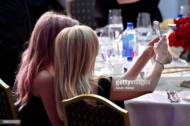 Honoree Reese Witherspoon and Ava Phillippe take a selfie during the 29th American Cinematheque Award honoring Reese Witherspoon at the Hyatt Regency...