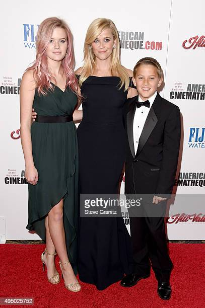 Honoree Reese Witherspoon with Ava Phillippe and Deacon Phillippe attend the 29th American Cinematheque Award honoring Reese Witherspoon at the Hyatt...