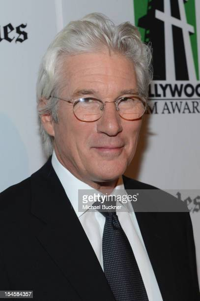 Honoree Richard Gere arrives at the 16th Annual Hollywood Film Awards Gala presented by The Los Angeles Times held at The Beverly Hilton Hotel on...