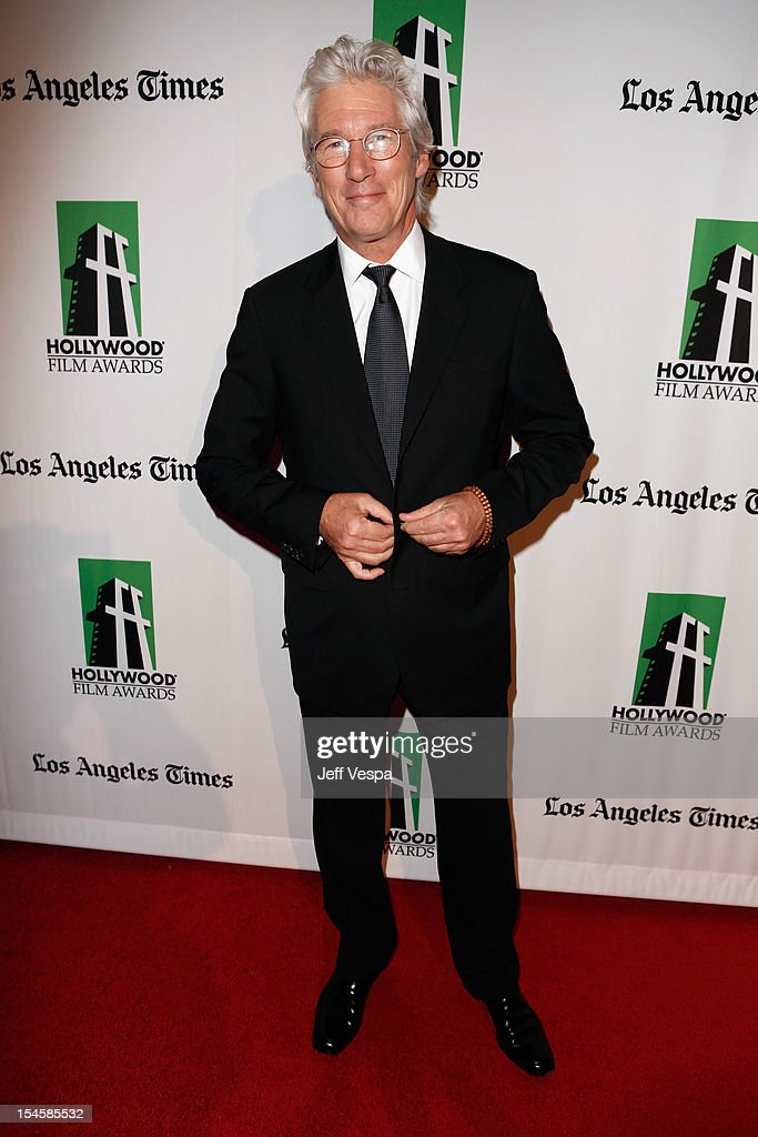 Honoree <a gi-track='captionPersonalityLinkClicked' href=/galleries/search?phrase=Richard+Gere&family=editorial&specificpeople=202110 ng-click='$event.stopPropagation()'>Richard Gere</a> arrives at the 16th Annual Hollywood Film Awards Gala presented by The Los Angeles Times held at The Beverly Hilton Hotel on October 22, 2012 in Beverly Hills, California.