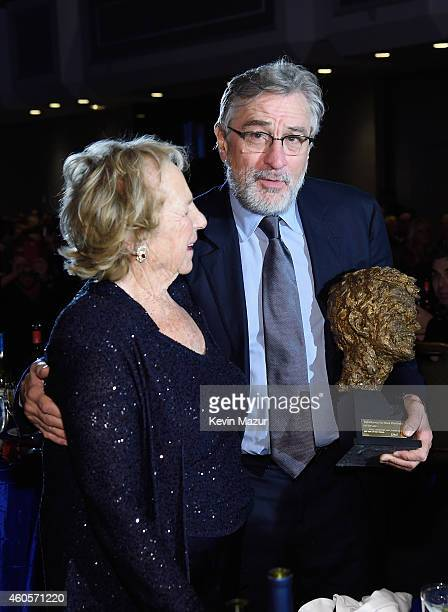 Honoree Robert De Niro accepts an award from Ethel Kennedy during the RFK Ripple Of Hope Gala at Hilton Hotel Midtown on December 16 2014 in New York...