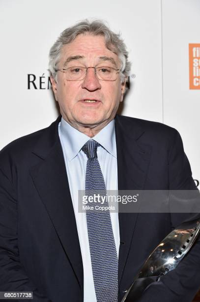Honoree Robert De Niro backstage during the 44th Chaplin Award Gala at David H Koch Theater at Lincoln Center on May 8 2017 in New York City