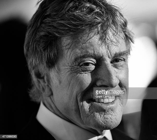 Honoree Robert Redford attends the 42nd Chaplin Award Gala at Alice Tully Hall Lincoln Center on April 27 2015 in New York City