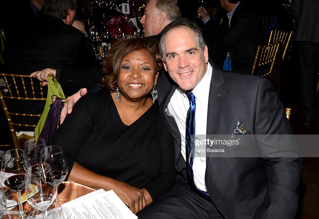 Honoree Robin Quivers (L) and Christopher Mattioli attend T.J. Martell Foundation's Annual World Tour of Wine Dinner at The Angel Orensanz Foundation on November 14, 2013 in New York City.