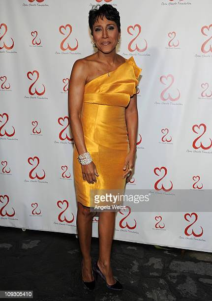 Honoree Robin Roberts attends the Jane Seymour Open Hearts Foundation Inaugural Celebration at a Private Residence on February 19 2011 in Malibu...