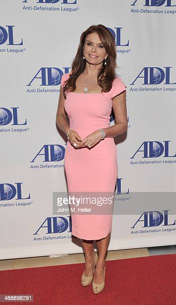 Honoree Roma Downey attends the AntiDefamation League Entertainment Industry Dinner honoring Roma Downey and Mark Burnett at The Beverly Hilton Hotel...