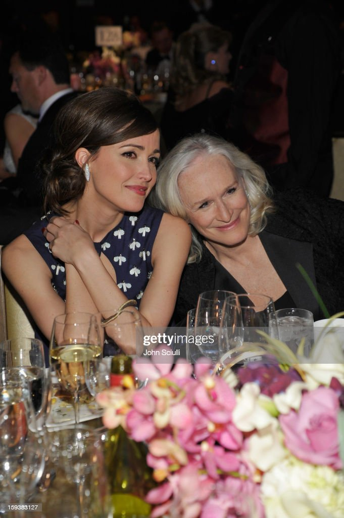 Honoree Rose Byrne and presenter Glenn Close attend the 2013 G'Day USA Los Angeles Black Tie Gala at JW Marriott Los Angeles at L.A. LIVE on January 12, 2013 in Los Angeles, California.