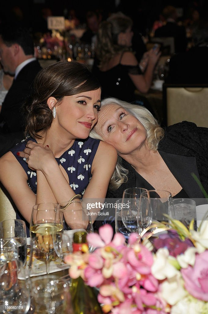 Honoree <a gi-track='captionPersonalityLinkClicked' href=/galleries/search?phrase=Rose+Byrne&family=editorial&specificpeople=206670 ng-click='$event.stopPropagation()'>Rose Byrne</a> and presenter <a gi-track='captionPersonalityLinkClicked' href=/galleries/search?phrase=Glenn+Close&family=editorial&specificpeople=201870 ng-click='$event.stopPropagation()'>Glenn Close</a> attend the 2013 G'Day USA Los Angeles Black Tie Gala at JW Marriott Los Angeles at L.A. LIVE on January 12, 2013 in Los Angeles, California.