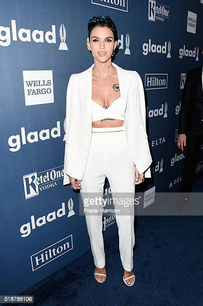 Honoree Ruby Rose attends the 27th Annual GLAAD Media Awards at the Beverly Hilton Hotel on April 2 2016 in Beverly Hills California