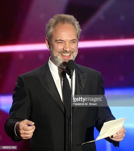 Honoree Sam Mendes accepts the John Schlesinger Britannia Award for Excellence in Directing onstage during the 2015 Jaguar Land Rover British Academy...