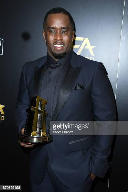 Honoree Sean Combs recipient of the Hollywood Documentary Award for 'Can't Stop Won't Stop A Bad Boy Story' poses in the press room during the 21st...