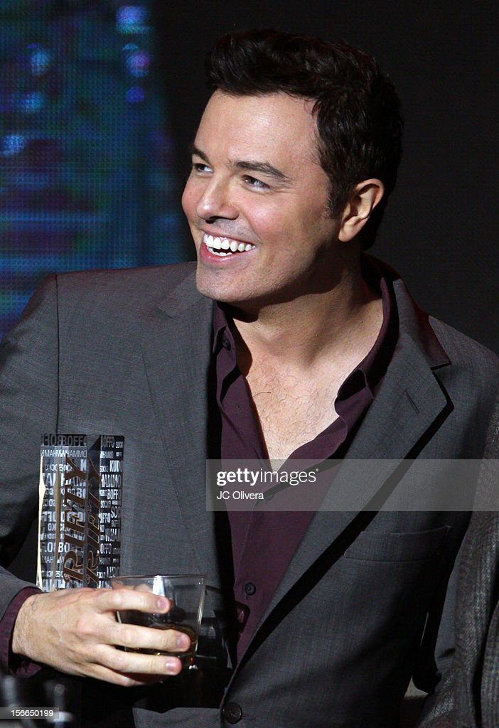 Honoree Seth MacFarlane accepts award onstage at Variety's 3rd annual Power of Comedy event presented by Bing benefiting the Noreen Fraser Foundation held at Avalon on November 17, 2012 in Hollywood, California.
