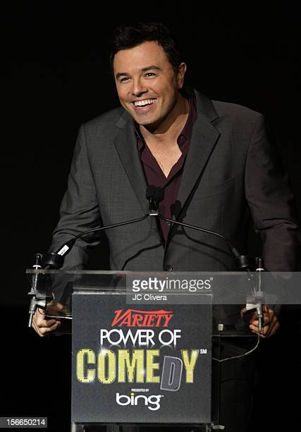 Honoree Seth MacFarlane accepts award onstage at Variety's 3rd annual Power of Comedy event presented by Bing benefiting the Noreen Fraser Foundation...