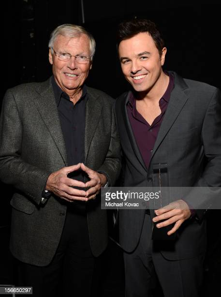 Honoree Seth MacFarlane and actor Adam West attend Variety's 3rd annual Power of Comedy event presented by Bing benefiting the Noreen Fraser...