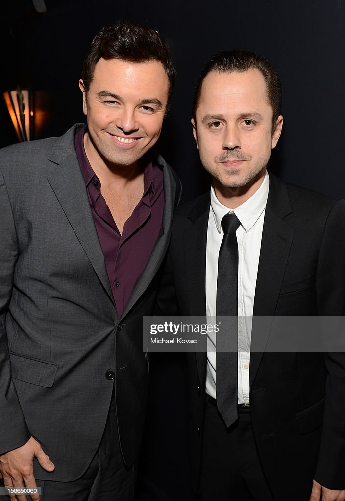 Honoree <a gi-track='captionPersonalityLinkClicked' href=/galleries/search?phrase=Seth+MacFarlane&family=editorial&specificpeople=549856 ng-click='$event.stopPropagation()'>Seth MacFarlane</a> (L) and actor <a gi-track='captionPersonalityLinkClicked' href=/galleries/search?phrase=Giovanni+Ribisi&family=editorial&specificpeople=540443 ng-click='$event.stopPropagation()'>Giovanni Ribisi</a> attend Variety's 3rd annual Power of Comedy event presented by Bing benefiting the Noreen Fraser Foundation held at Avalon on November 17, 2012 in Hollywood, California.