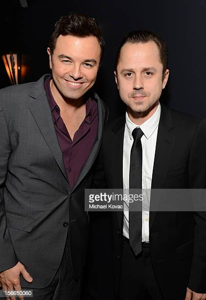 Honoree Seth MacFarlane and actor Giovanni Ribisi attend Variety's 3rd annual Power of Comedy event presented by Bing benefiting the Noreen Fraser...