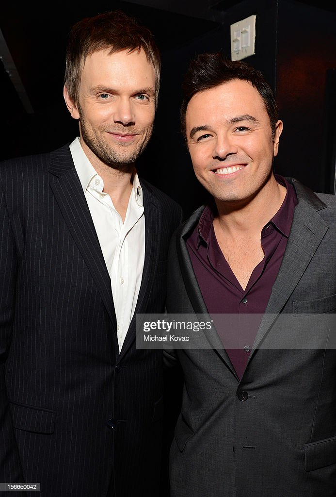 Honoree Seth MacFarlane (R) and host Joel McHale attend Variety's 3rd annual Power of Comedy event presented by Bing benefiting the Noreen Fraser Foundation held at Avalon on November 17, 2012 in Hollywood, California.