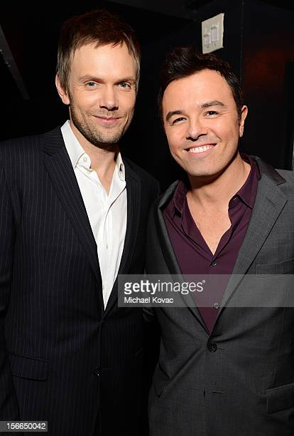 Honoree Seth MacFarlane and host Joel McHale attend Variety's 3rd annual Power of Comedy event presented by Bing benefiting the Noreen Fraser...