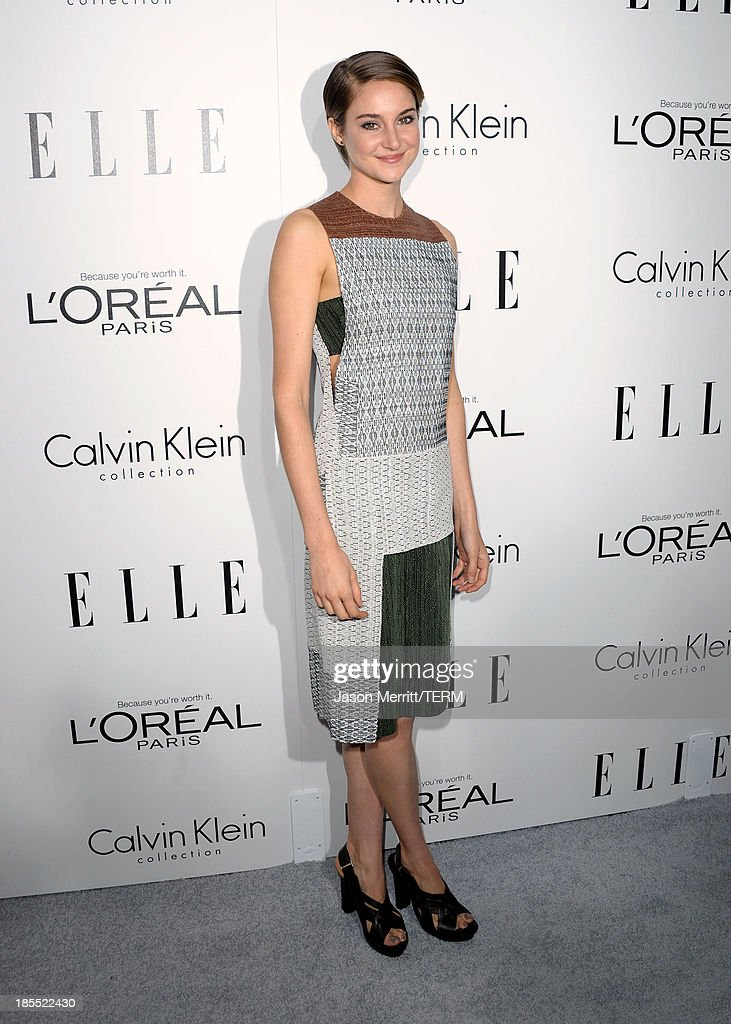 Honoree Shailene Woodley attends ELLE's 20th Annual Women In Hollywood Celebration at Four Seasons Hotel Los Angeles at Beverly Hills on October 21, 2013 in Beverly Hills, California.