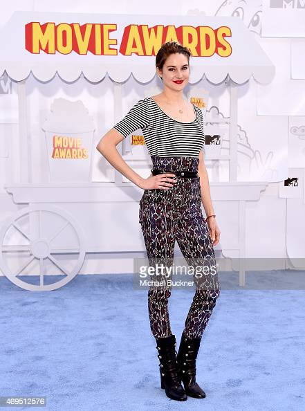 Honoree Shailene Woodley attends The 2015 MTV Movie Awards at Nokia Theatre LA Live on April 12 2015 in Los Angeles California