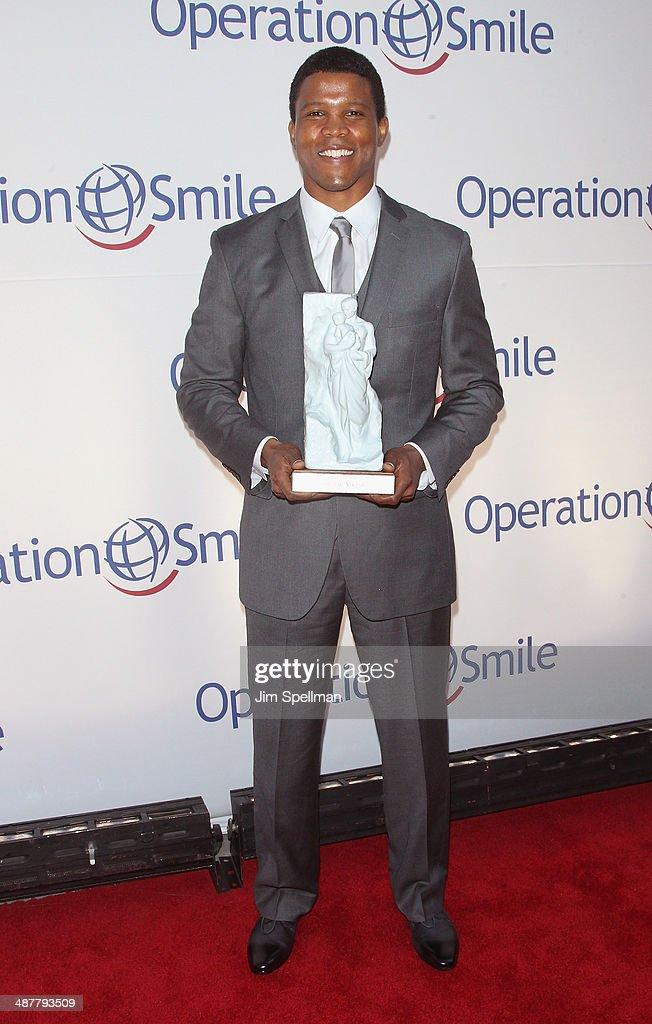 Honoree <a gi-track='captionPersonalityLinkClicked' href=/galleries/search?phrase=Sharif+Atkins&family=editorial&specificpeople=2647537 ng-click='$event.stopPropagation()'>Sharif Atkins</a> attends the Operation Smile's Smile Event at Cipriani Wall Street on May 1, 2014 in New York City.