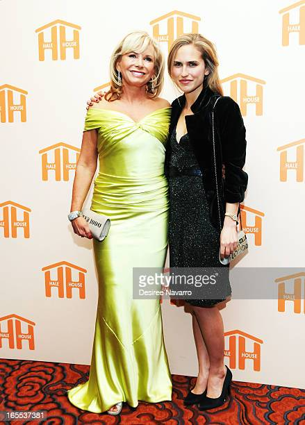 Honoree Sharon Bush and daughter Ashley Bush attend the 2013 Hale House Spring Gala at Mandarin Oriental Hotel on April 3 2013 in New York City