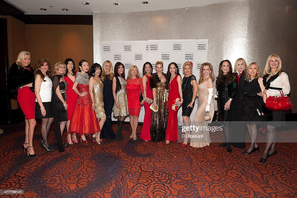 Honoree <a gi-track='captionPersonalityLinkClicked' href=/galleries/search?phrase=Sharon+Bush&family=editorial&specificpeople=217522 ng-click='$event.stopPropagation()'>Sharon Bush</a> (C) and guests attend the Women Project Theater's 2014 Women Of Achievement Gala at the Mandarin Oriental Hotel on March 10, 2014 in New York City.