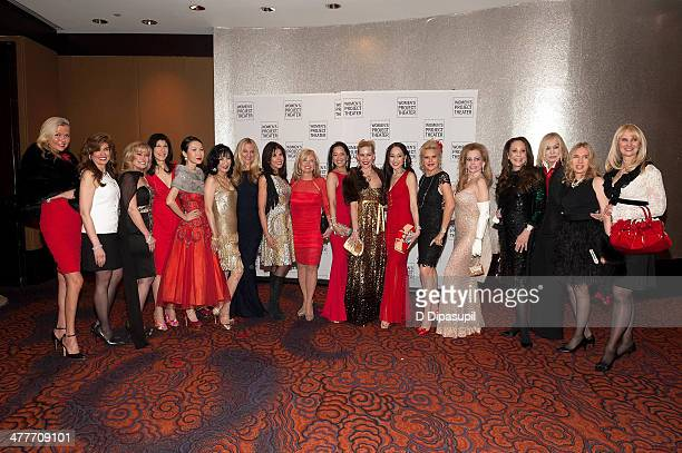 Honoree Sharon Bush and guests attend the Women Project Theater's 2014 Women Of Achievement Gala at the Mandarin Oriental Hotel on March 10 2014 in...