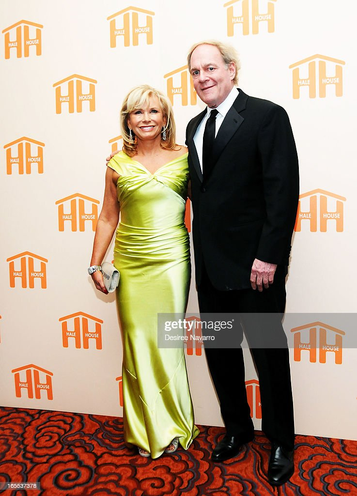 Honoree <a gi-track='captionPersonalityLinkClicked' href=/galleries/search?phrase=Sharon+Bush&family=editorial&specificpeople=217522 ng-click='$event.stopPropagation()'>Sharon Bush</a> and Oscar Plotkin attend the 2013 Hale House Spring Gala at Mandarin Oriental Hotel on April 3, 2013 in New York City.