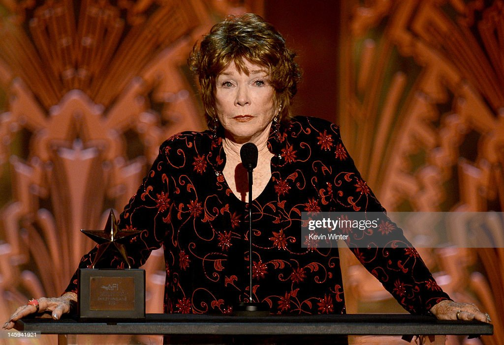 Honoree <a gi-track='captionPersonalityLinkClicked' href=/galleries/search?phrase=Shirley+MacLaine&family=editorial&specificpeople=204788 ng-click='$event.stopPropagation()'>Shirley MacLaine</a> onstage at the 40th AFI Life Achievement Award honoring <a gi-track='captionPersonalityLinkClicked' href=/galleries/search?phrase=Shirley+MacLaine&family=editorial&specificpeople=204788 ng-click='$event.stopPropagation()'>Shirley MacLaine</a> held at Sony Pictures Studios on June 7, 2012 in Culver City, California. The AFI Life Achievement Award tribute to <a gi-track='captionPersonalityLinkClicked' href=/galleries/search?phrase=Shirley+MacLaine&family=editorial&specificpeople=204788 ng-click='$event.stopPropagation()'>Shirley MacLaine</a> will premiere on TV Land on Saturday, June 24 at 9PM