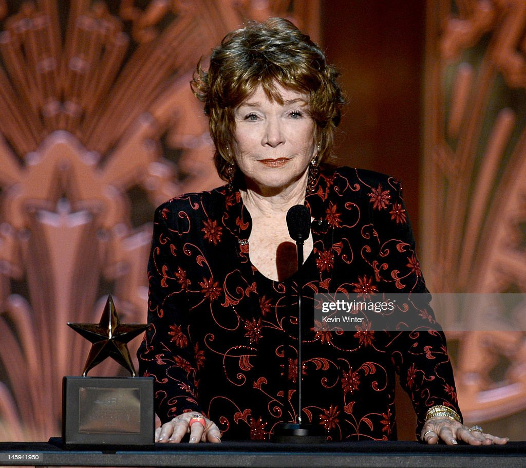 Honoree <a gi-track='captionPersonalityLinkClicked' href=/galleries/search?phrase=Shirley+MacLaine&family=editorial&specificpeople=204788 ng-click='$event.stopPropagation()'>Shirley MacLaine</a> onstage at the 40th AFI Life Achievement Award honoring <a gi-track='captionPersonalityLinkClicked' href=/galleries/search?phrase=Shirley+MacLaine&family=editorial&specificpeople=204788 ng-click='$event.stopPropagation()'>Shirley MacLaine</a> held at Sony Pictures Studios on June 7, 2012 in Culver City, California. The AFI Life Achievement Award tribute to <a gi-track='captionPersonalityLinkClicked' href=/galleries/search?phrase=Shirley+MacLaine&family=editorial&specificpeople=204788 ng-click='$event.stopPropagation()'>Shirley MacLaine</a> will premiere on TV Land on Saturday, June 24 at 9PM ET/PST.