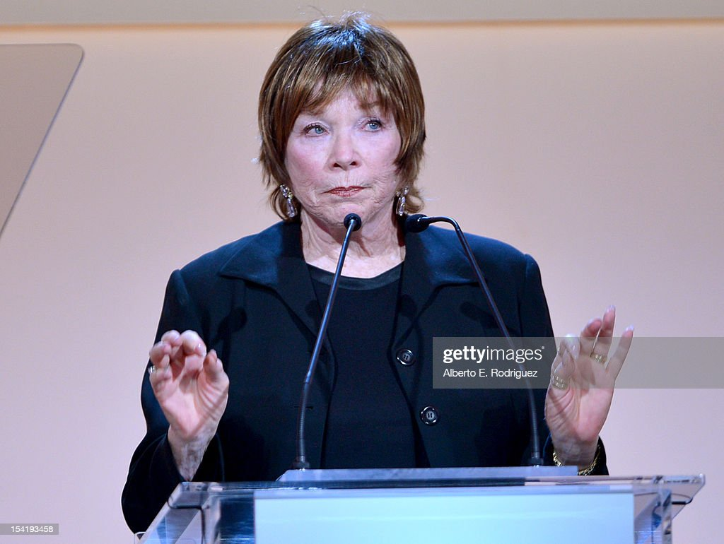 Honoree <a gi-track='captionPersonalityLinkClicked' href=/galleries/search?phrase=Shirley+MacLaine&family=editorial&specificpeople=204788 ng-click='$event.stopPropagation()'>Shirley MacLaine</a> speaks onstage at ELLE's 19th Annual Women In Hollywood Celebration at the Four Seasons Hotel on October 15, 2012 in Beverly Hills, California.