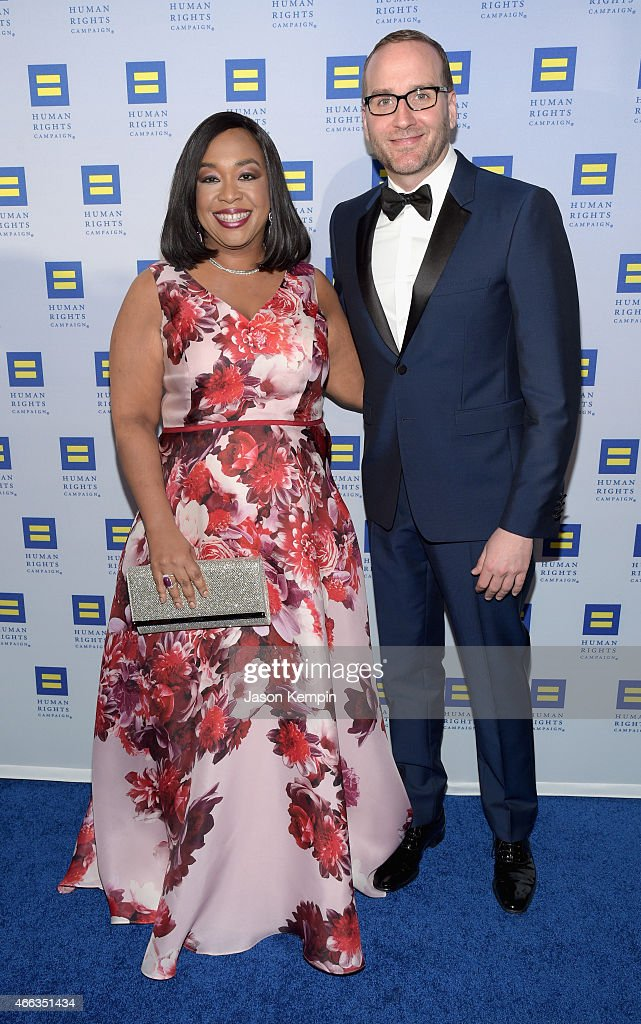 Honoree Shonda Rhimes (L) and Human Rights Campaign President Chad Griffin attend the Human Rights Campaign Los Angeles Gala 2015 at JW Marriott Los Angeles at L.A. LIVE on March 14, 2015 in Los Angeles, California.