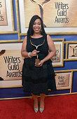 Honoree Shonda Rhimes attends the 2015 Writers Guild Awards LA Ceremony at the Hyatt Regency Century Plaza on February 14 2015 in Century City...
