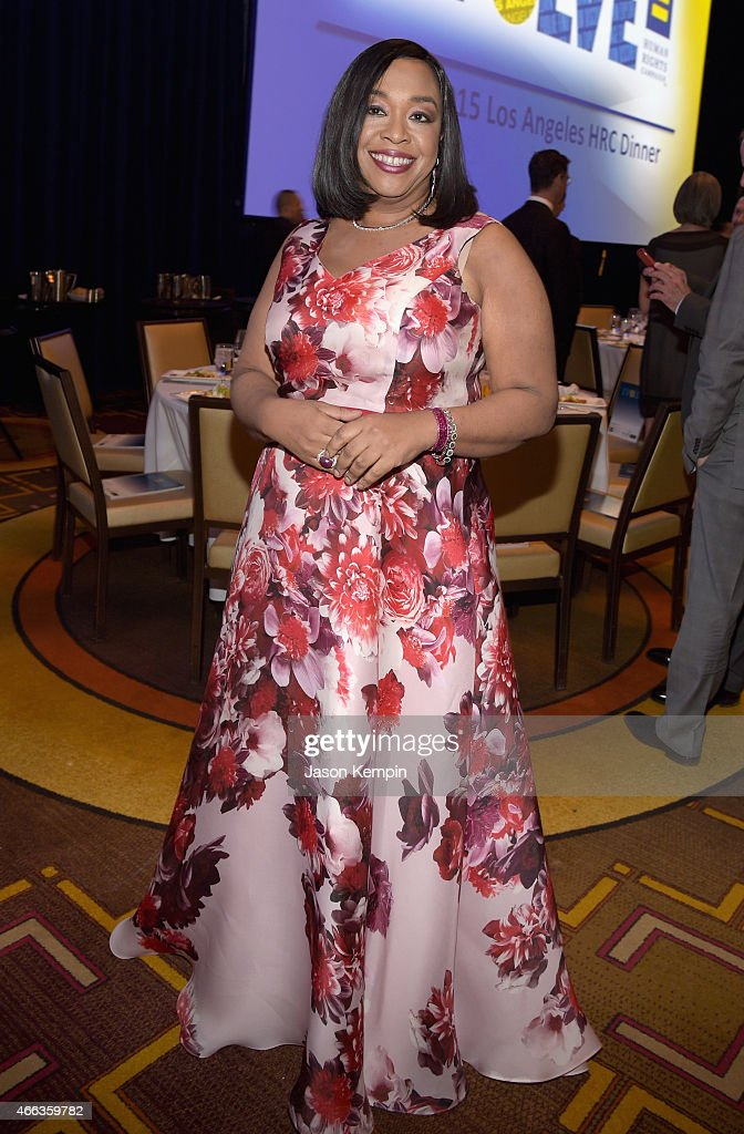 Honoree Shonda Rhimes attends the Human Rights Campaign Los Angeles Gala 2015 at JW Marriott Los Angeles at L.A. LIVE on March 14, 2015 in Los Angeles, California.