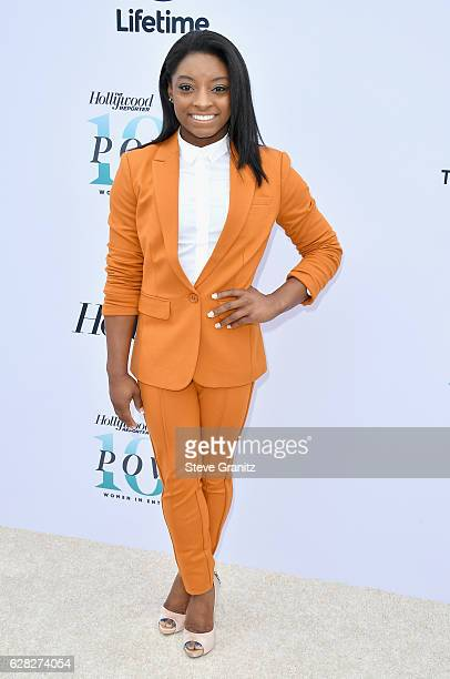 Honoree Simone Biles attends The Hollywood Reporter's 25th Annual Women in Entertainment Breakfast at Milk Studios on December 7 2016 in Hollywood...