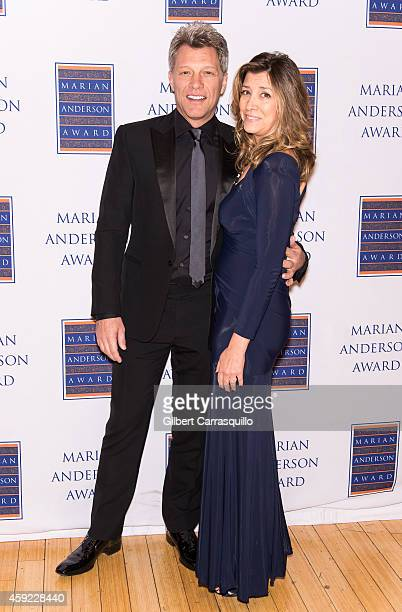 Honoree singer Jon Bon Jovi and wife Dorothea Hurley attend the 2014 Marian Anderson Award Gala at Kimmel Center for the Performing Arts on November...