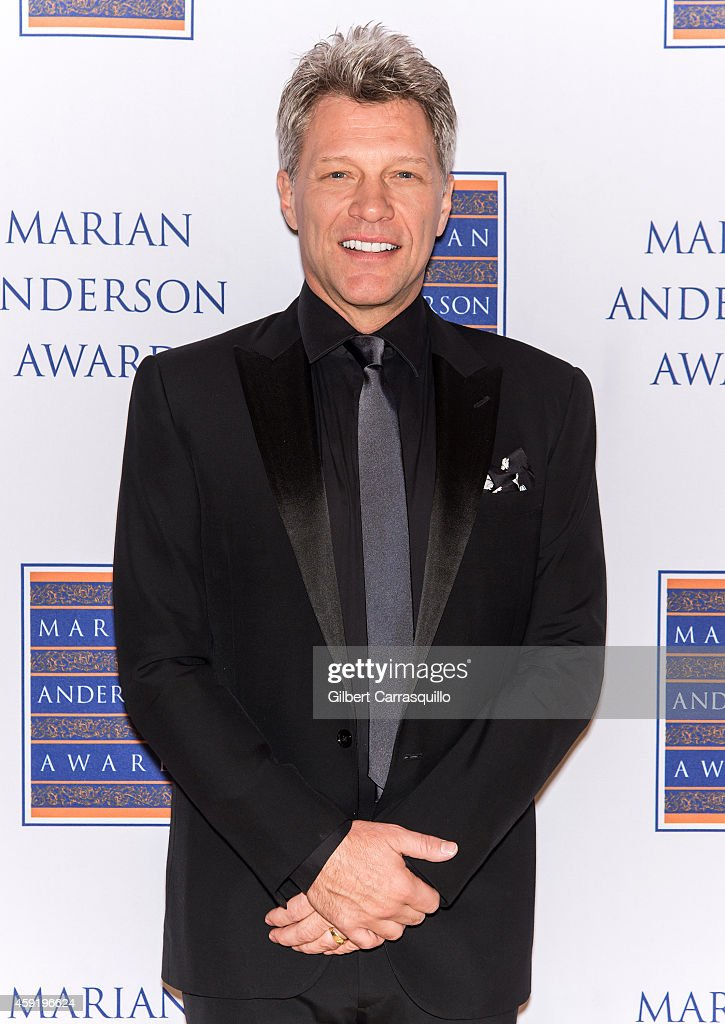 Honoree singer <a gi-track='captionPersonalityLinkClicked' href=/galleries/search?phrase=Jon+Bon+Jovi&family=editorial&specificpeople=201527 ng-click='$event.stopPropagation()'>Jon Bon Jovi</a> attends the 2014 Marian Anderson Award at Kimmel Center for the Performing Arts on November 18, 2014 in Philadelphia, Pennsylvania.