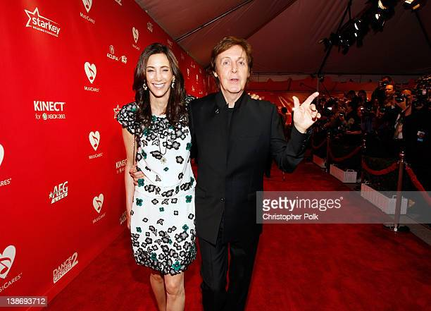 Honoree Sir Paul McCartney and Nancy Shevell attend The 2012 MusiCares Person of The Year Gala Honoring Paul McCartney at Los Angeles Convention...