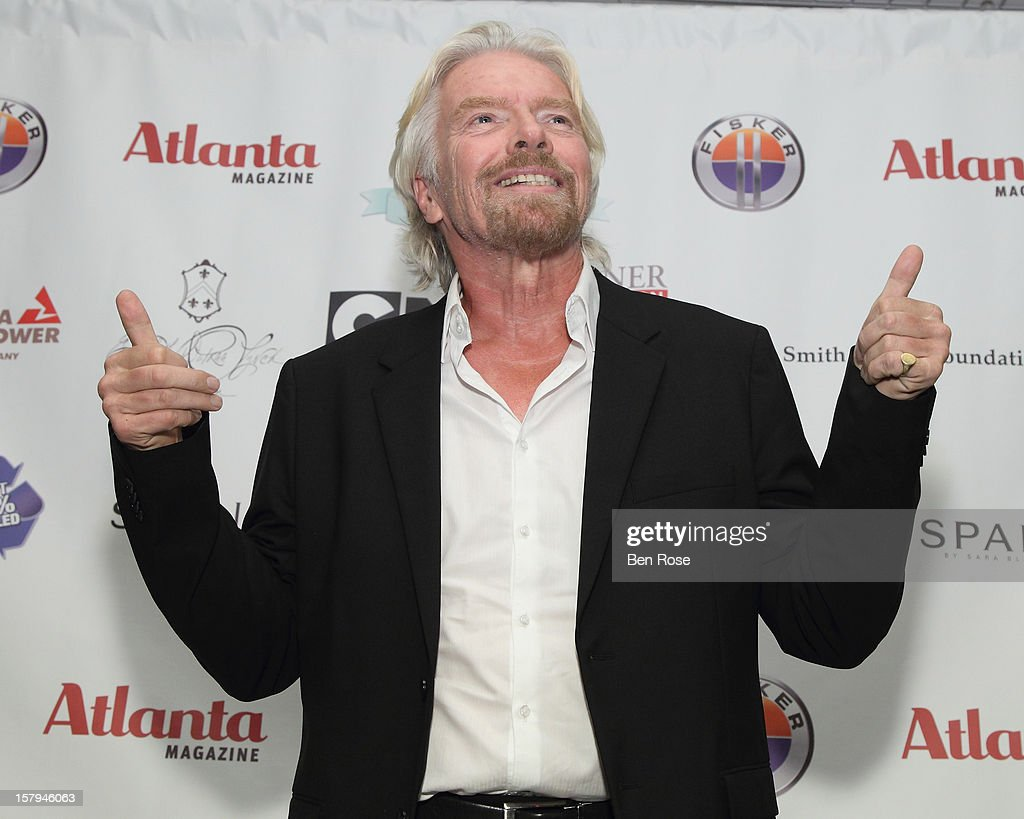 Honoree Sir <a gi-track='captionPersonalityLinkClicked' href=/galleries/search?phrase=Richard+Branson&family=editorial&specificpeople=220198 ng-click='$event.stopPropagation()'>Richard Branson</a> speaks during the Captain Planet Foundation's benefit gala at Georgia Aquarium on December 7, 2012 in Atlanta, Georgia.