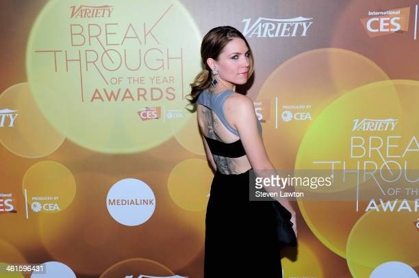 Honoree Skylar Grey attends the Variety Breakthrough of the Year Awards during the 2014 International CES at The Las Vegas Hotel Casino on January 9...