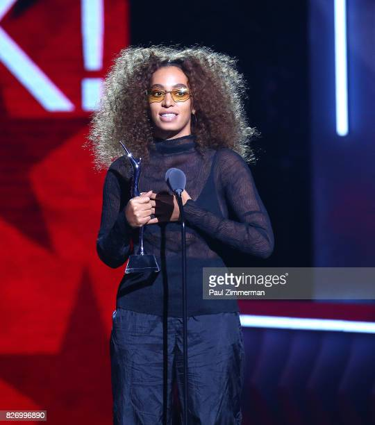 Honoree Solange Knowles speaks onstage during the 2017 Black Girls Rock at NJPAC on August 5 2017 in Newark New Jersey
